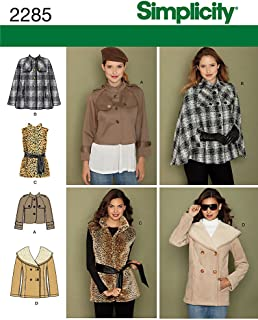 Simplicity Sewing Pattern 2285 Misses' Jackets, H5 (6-8-10-12-14)