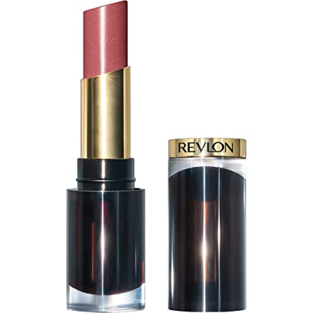 REVLON Super Lustrous Glass Shine Lipstick, Flawless Moisturizing Lip Color with Aloe, Hyaluronic Acid and Rose Quartz, Glossed Up Rose (003), 0.15 oz