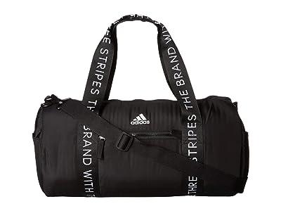 adidas Vfa Roll Duffel (Black/White) Duffel Bags