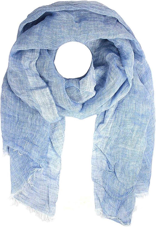 Bloomingdale's MA.AL.BI. Women's LinoFlax Loose Weave Scarf, bluee