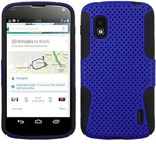 MyBat Astronoot Premium Hybrid Case with Durable Hard Plastic Faceplate for LG Nexus 4 E960-1 Pack - Retail Packaging Dark Blue/Black