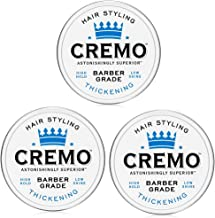 Cremo Barber Grade Hair Styling Thickening Paste, 4 Ounce (Pack of 3)