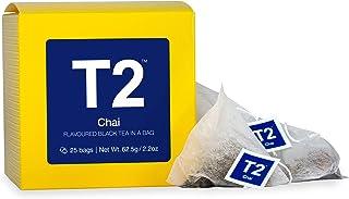 T2 Tea Chai Black Tea Bags in Box, 25-Count