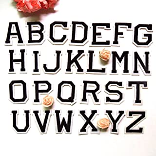 Letter A-Z Novelty Applique Patches (Iron or Sewing On) (Formal Letter)