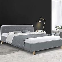 King Bed Frame, Artiss Pola Fabric Upholstered Bed Frame Base, Grey