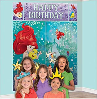 Scene Setters Wall Decorating Kit | Disney Ariel Dream Big Collection | Birthday