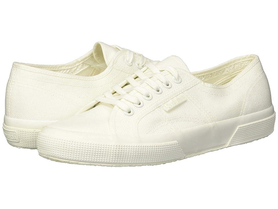 Superga 2750 COTU Classic Sneaker (White/Ecru) Lace up casual Shoes
