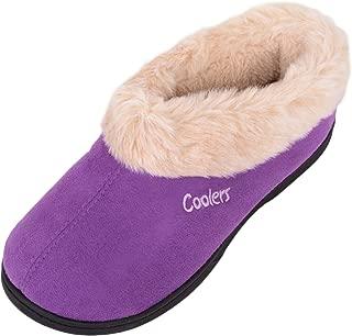 ABSOLUTE FOOTWEAR Ladies/Womens Slip On Slippers/Booties/Indoor Shoes with Warm Faux Fur Inners
