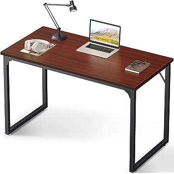 "Coleshome Computer Desk 47"", Modern Simple Style Desk for Home Office, Sturdy Writing Desk,Teak"
