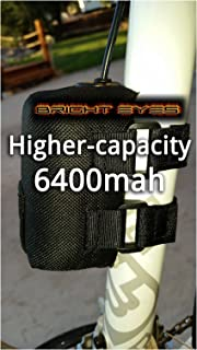 Bright Eyes The Best Bike Light Battery - Now Higher Capacity - Works with CREE T6 LED 1200lm Bike Lights - 8.4v