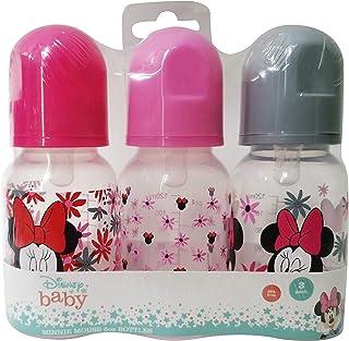 Cudlie Disney Baby Boy Minnie Mouse 5 oz بسته سه بطری کودک ، گل گرمسیری