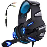 Micolindun V3blue Gaming Headset for PS4 Xbox One, Over Ear Gaming Headphones with Mic Stereo...