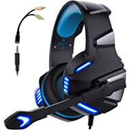 Micolindun Gaming Headset for... Micolindun Gaming Headset for Xbox One, PS4, PC, Over Ear Gaming Headphones with Noise Cancelling...