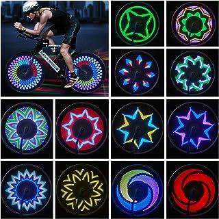 JIAERQI Bike Wheel Lights - 21 PCS Patterns Bicycle Spoke Lights - IPX5 Waterproof Bike Lights for Wheel Safety Bike Acces...