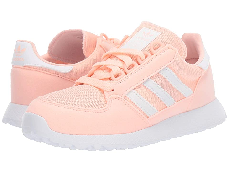 adidas Originals Kids Forest Grove C (Little Kid) (Clear Orange) Girls Shoes