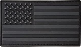 LEGEEON All Black ACU Dark Subdued USA American Flag Morale PVC Rubber Fastener Patch
