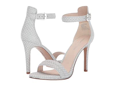 Kenneth Cole New York Brooke (White/Silver Embossed Leather) High Heels