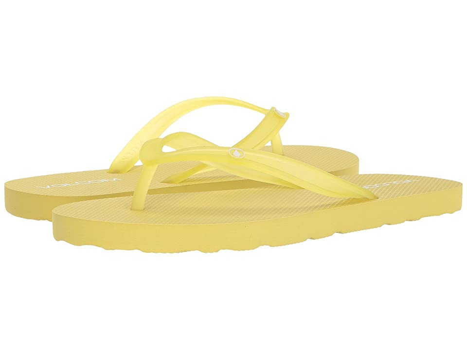 Volcom Rocking 2 Solid Sandal (Citron) Women