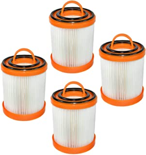 HQRP 4-Pack Dust Cup Filter for Eureka DCF-3, DCF3, 62136A Replacement fits Eureka 5700, 5800 Series Litespeed Whirlwind B...