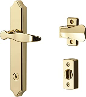 Ideal Security BK1216BB ML Lever Set with Keyed Deadbolt, Bright Brass, Bright Brass