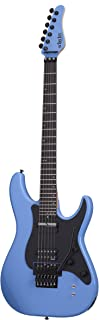 Schecter 6 String Solid-Body Electric Guitar, Riviera Blue (1288)