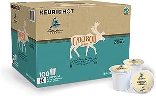 Caribou Coffee Keurig Single-Serve K-Cup Pods, Caribou Blend Medium Roast Coffee, (Caribou Blend Medium Roast, 100 K Cups)