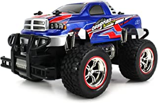 Velocity Toys Mini V-Thunder Storm Remote Control Monster Pickup Truck 1:24 Scale Size Off Road Series Rechargeable Ready to Run RTR (Colors May Vary)