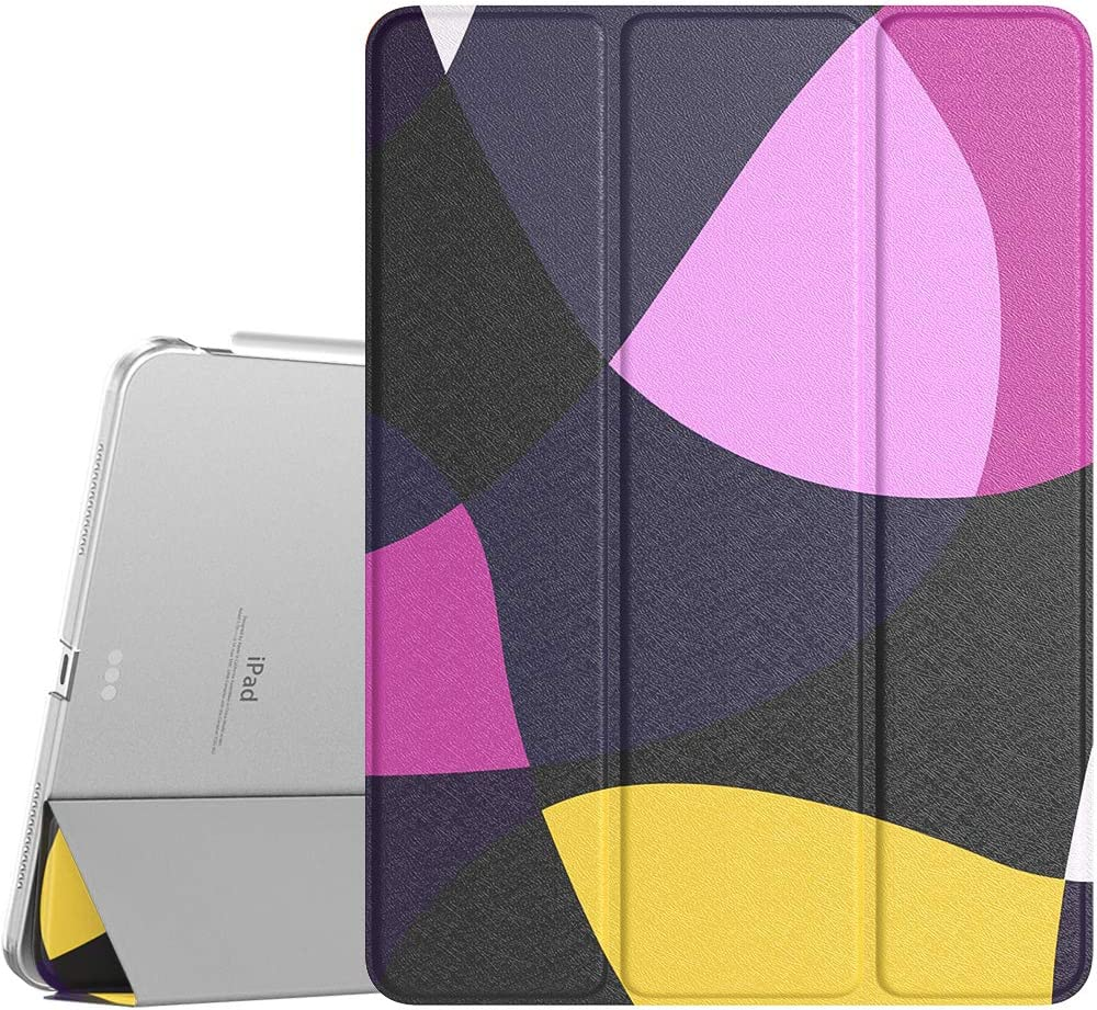 TiMOVO Case for New iPad Air 4th Generation, iPad Air 4 Case (10.9-inch, 2020), [Support 2nd Gen Apple Pencil Charging] Slim Stand Protective Cover Shell with Auto Wake/Sleep - Geometric Purple