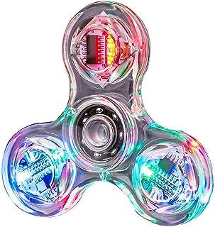 Caractéristique Fidget Hand Spinner Toy, Fidget Finger Hand Spinner, Led Light Fidget Spinner Toy, Hand Spinner Single Fin...