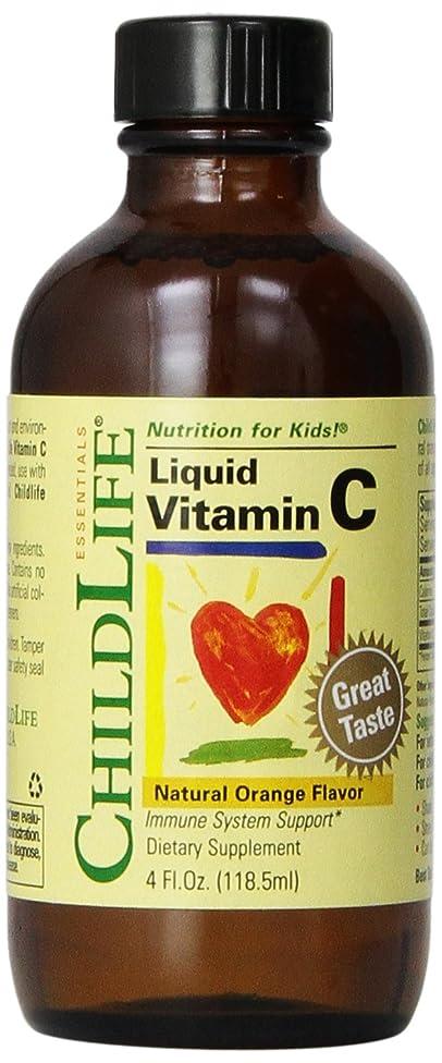 Child Life Liquid Vitamin C, Orange Flavor, Glass Bottle, 4-Ounce