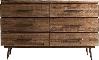 HOMEDECORE - Aparador Estilo Industrial - Mueble Texas Madera/Hierro (121x40)