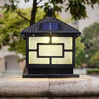 American Outdoor Solar Energy LED Glass Lantern Waterproof IP54 Community Villa Light Patio Lighting Door Pillar Walled Ga...