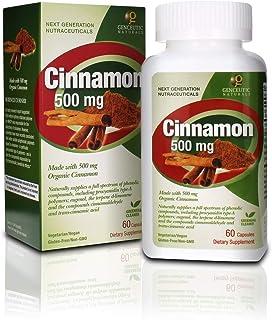 Genceutic Naturals Cinnamon Organic Raw Dietary Supplement Vegetarian Vegan Gluten Free Non GMO Ideal for Healthy Blood Pr...