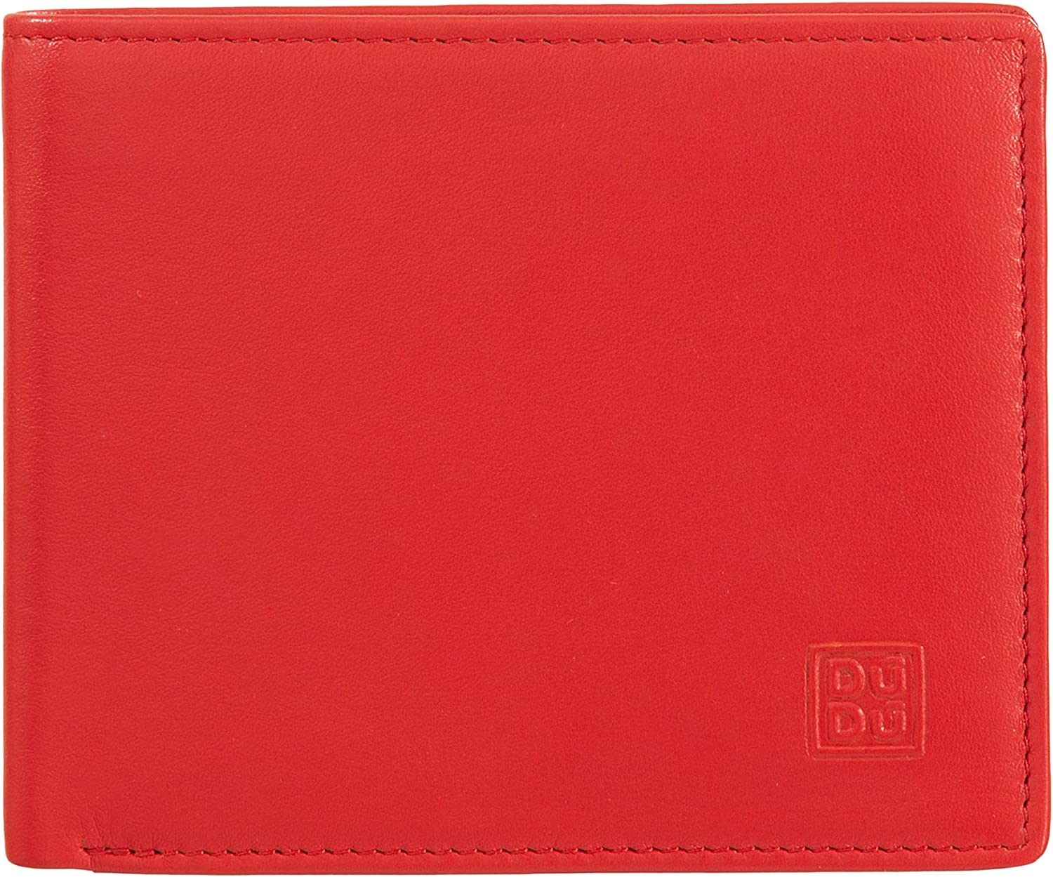 Man's wallet multicolour soft leather classic with coin purse DUDU