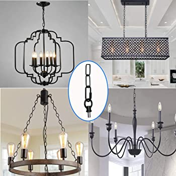 5.6 Feet Heavy Duty Pendant Light Fixture Chain, Permits Installation of Chain-Hung Fixtures on High Ceilings with Ma...