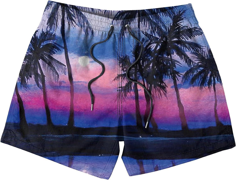 NCRJCZQL Kids Boys Swim Trunks Quick Dry Funny Beach Board Shorts Swimsuit for Girls