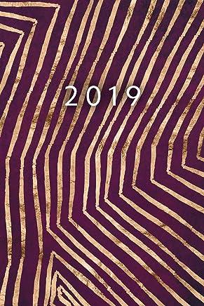 2019: ENE - DIC Agenda Semanal | 152 x 229 mm | 1 Semana en 2 Páginas | 52 Semanas Planificador y Calendario | Oro Abstracción (Spanish Edition): Elegant ...
