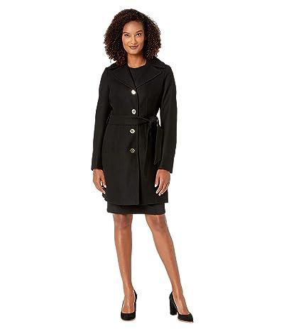 MICHAEL Michael Kors Wrap Belted Wool M121950TZ (Black) Women