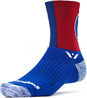 Swiftwick- VISION FIVE | Socks Built for Running & Cycling, All Day Comfort |Creative Styles, Fast Drying, Cushioned, Crew