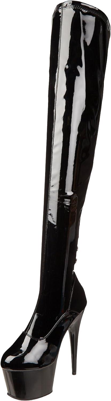 Pleaser Women's Adore 3063 Dress shoes,Black Stretch Patent Black,11 M US