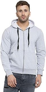 Scott International Men's Rich Cotton Pullover Hoodie Sweatshirt - Black