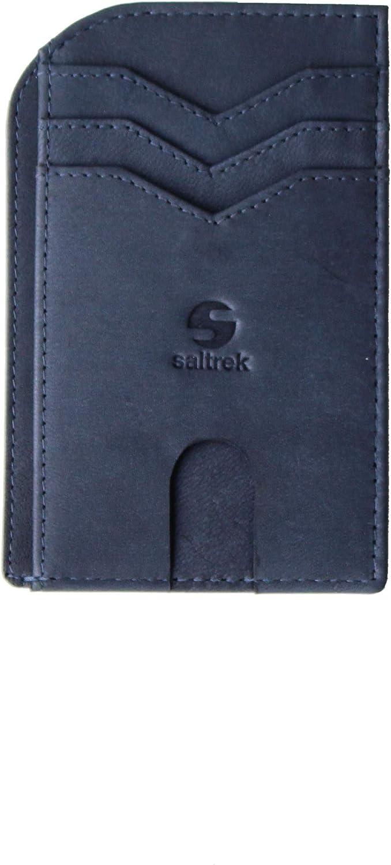 Ultra Slim Front Pocket Wallet for Men, RFID Blocking, Top Grain Leather