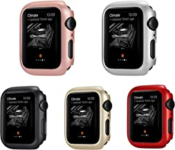 Leotop Compatible with Apple Watch Series 5 4 Case 44mm 40mm, Super Thin Bumper Protector PC Hard Cover Lightweight Slim Shockproof Accessories Matte Frame Compatible iWatch (5 Color Pack, 40mm)