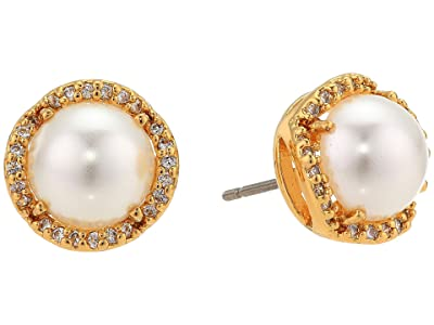 Kate Spade New York That Sparkle Pave Round Large Studs Earrings (Cream/Gold) Earring