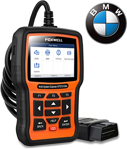 2021 FOXWELL NT510 Elite Full discount Systems Scanner for lowest BMW Automotive Obd2 Code Reader Bidirectional Diagnostic Scan Tool with SRS EPB SAS TPS Active Test Oil Reset Battery Registration outlet online sale