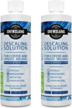 Universal Descaling Solution for Keurig, Cuisinart, Breville, Kitchenaid, Nespresso, Delonghi, Krups and all Coffee and Espresso Machines (Made in the USA) - 2 Uses Per Bottle (2 Pack) - By Brewslang