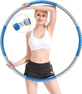 Gindoly Hula Hoop, Fitness Hula Hoop-däck för vuxna för viktminskning, stabil kärna i rostfritt stål med premiumskum, läng...