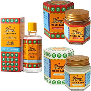 comprar comparacion Tiger Balm Red & White Ointment 30gm/Jar + Tiger Balm Liniment 28ml