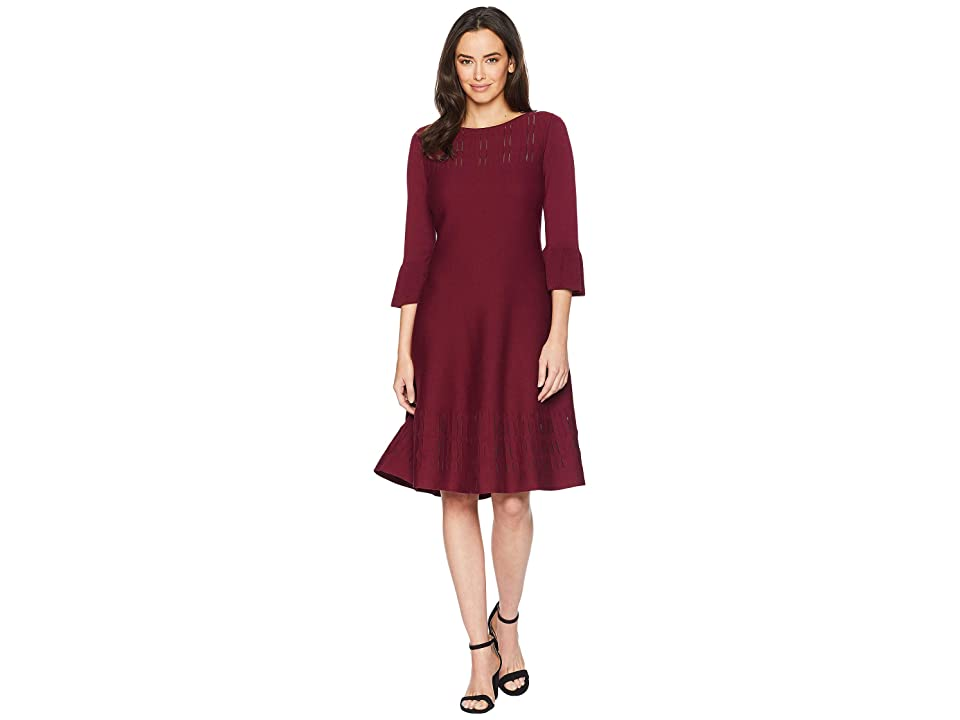 NIC+ZOE Illusion Twirl Dress (Amaranth) Women