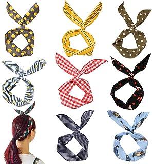 colore casuale Fodattm 6PCS ferro filo avvolto panno denti pettine fascia capelli donna donna cerchietto copricapo